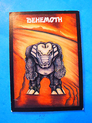 Giant Herbivore BEHEMOTH ~ 1991 #4 Monster in My Pocket Collectible TRADING CARD