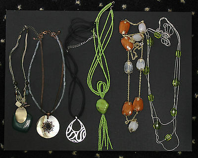 Great Costume Fun Fashion Lot Of 6 Mixed Material Necklaces 3 Avon/ 3 Unbranded