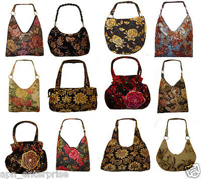 Wholesale Lot  12 Tapestry Style Bags Purses