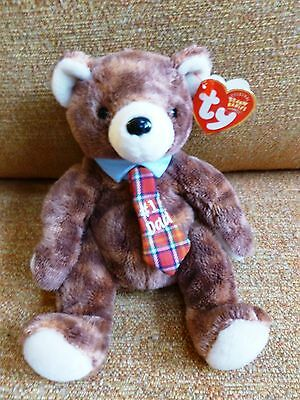 2004 Ty Beanie Babies Pappa the #1 Dad Bear Plush Doll NEW