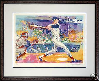 FRAMED TED WILLIAMS LIMITED EDITION BOSTON RED SOX  LEROY NEIMAN SERIGRAPH JSA