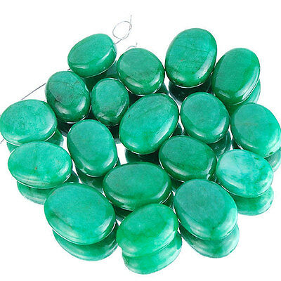 385 CTS/18 PCS EXQUISITE GREEN NATURAL EMERALD RARE HUGE DRILLED BEADS 15MM-22MM