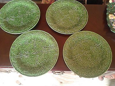 New Gorgeous Set Of 4 Italian Green Plates ABSOLUTELY BEAUTIFUL 69.99 RETAIL