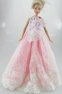 New Fashion Handmade Wedding Dress Clothes Outfits For Barbie Doll #809