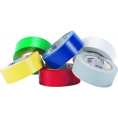 Pack of 6 Different Colored Vinyl Electrical Tape 538353