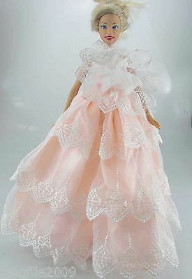 Fashion New Handmade Wedding Dress Clothes Outfits For Barbie Doll #806