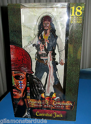 Cannibal King Captain Jack Sparrow 18 Inch Johnny Dep Brand New Mint In Box 18in