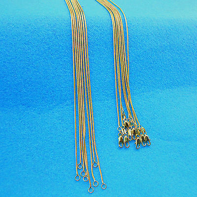"""5PCS 22"""" Wholesale Fashion Jewelry 18K Gold Filled Snake Necklaces For Chains"""