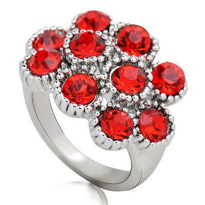 Hot sale new fashion inlaid upscale jewelry S80 Silver CZ rings    **R425-7