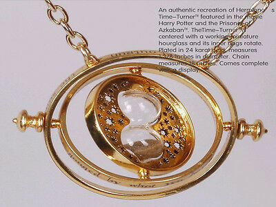 Wholesale Hermione Rotating Time Turner 18k Gold Plated Necklace Granger Props