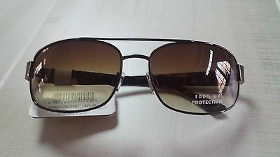 $26 LADIES FASHION SUNGLASSES BROWN METAL FRAME PLASTIC ARMS Paradise Collection