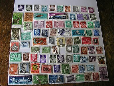 EAST GERMANY  DDR LOT OF 80 USED STAMPS HINGED MOSTLY CTO