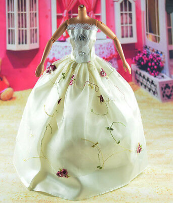 lovely New Handmade Party Clothes Fashion Dress for Noble Barbie Doll   **bab30