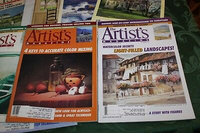 Lot of 9 back issues of The Artist's Magazine 1995 and 1996 - Art - LUD