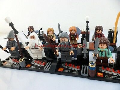 8 Sets Minifigures Hobbit Lord of the Rings Building Toys Baggins Gandalf  nhy65