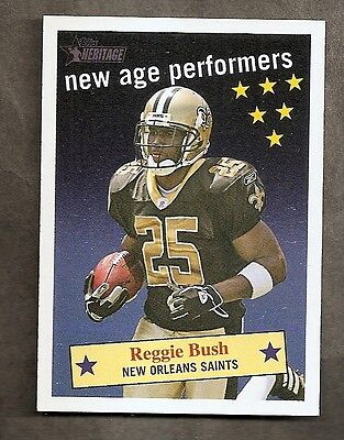 2006 Topps Heritage Reggie Bush NAP 13 New Age Performer New Orleans Saints