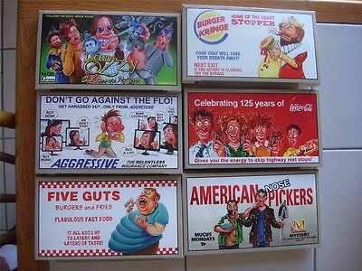 Wacky Packages All New Series ANS 11 OVERSIZED BILLBOARD BOX LOADER SET 6