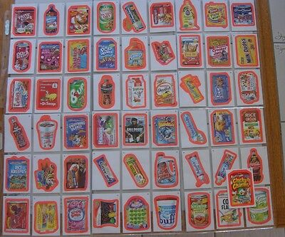 2011 Wacky Packages ANS 8 RED PINK PARALLEL CARD SET 55 sale