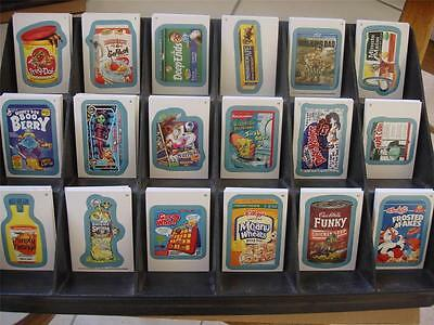 Wacky Packages ALL NEW SERIES ANS 11 128 BLUE CARD SET COMPLETE ALL BACK VARI