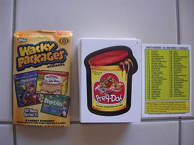 Wacky Packages ALL NEW SERIES ANS 11 55 Sticker set with Wrapper BRAND NEW