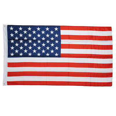 3.5'x 6' FT American Flag USA US Sewn Stripes Embroidered Stars Brass Grommets