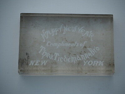 Paperweight Happy New Year Compliments Theo Tiedemann Bevs Industries York Ny