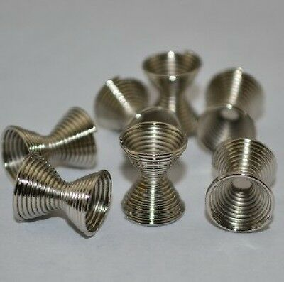 20PCS 9*11MM plated White K gold Spring Coil Spacer Beads Charm beads