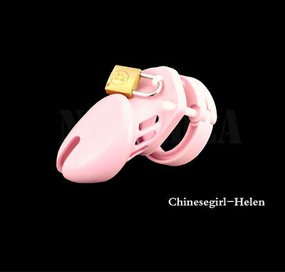 Pink Silicone Male Chastity Cage Arrivals A122-3