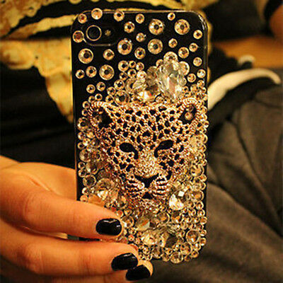 """HOT NEW Crystal Leopard Head PC Case Cover Skins for Apple iPhone6 4.7"""" L465"""