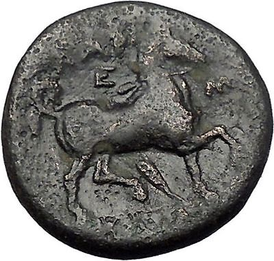 LARISSA in THESSALY 350BC NYMPH Horse Authentic Ancient Greek Coin i49173
