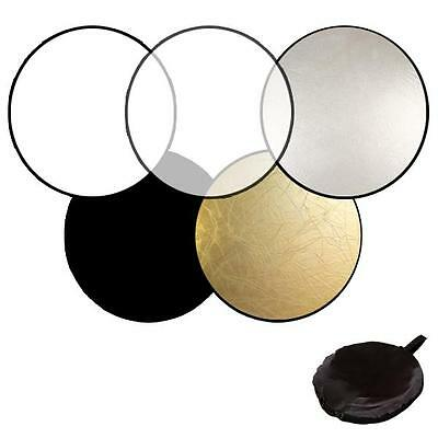 """43"""" 5 in 1 Photography Studio Light Mulit Collapsible photo Reflector disc 110CM"""