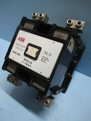 ABB EHD-520 Spectrum Drive Contactor 520 Amp 600 VDC EHD520 520A Cont. 120V Coil