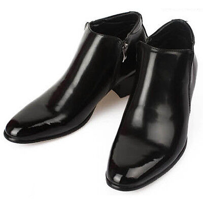 New Mens Dress Leather Shoes Formal Casual Black Ankle Boots Deluxe US 10