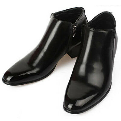 New Mens Dress Leather Shoes Formal Casual Black Ankle Boots Deluxe US 9.5