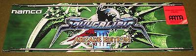 """SOUL CALIBER 3 ARCADE EDITION HEADER 25"""" W. X 7 /5/8"""" T  FREE SHIP TO LOWER 48"""