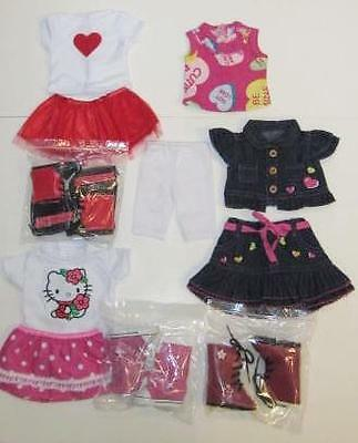 "Huge DOLL CLOTHES LOT fits 18"" AMERICAN GIRL~ Skirts and Boots Outfits #55"