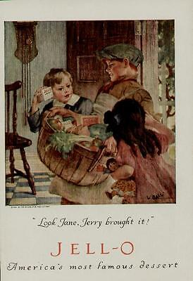 """1923 Jello Jell-O Ad / """"look Jane, Jerry Brought It!"""" - Kitchen Art   - #n061"""