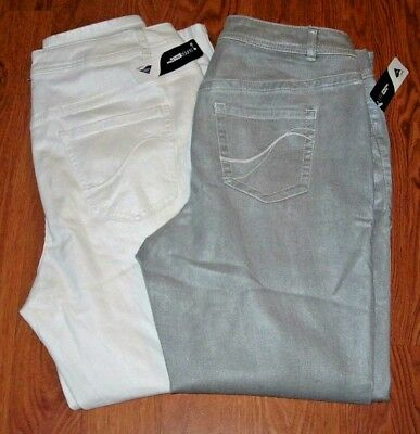 65aa5179270 Lane Bryant Genius Fit Shimmery Skinny Jeans choose Gray Silver or White 14- 28
