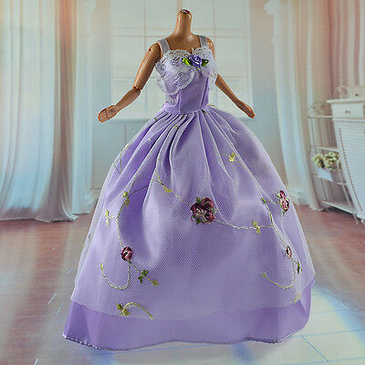 lovely New Handmade Party Clothes Fashion Dress for Noble Barbie Doll   **bab13