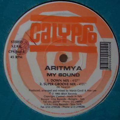 "ARITMYA ~ My Sound ~ 12"" Single ITALIAN PRESSING"