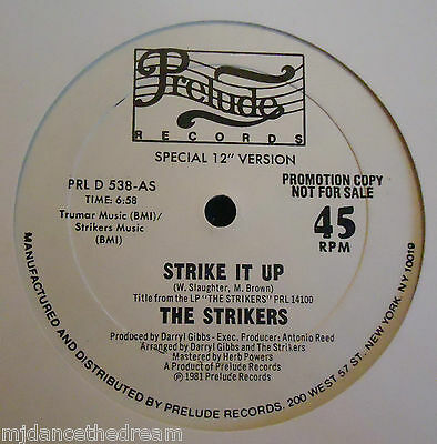 "THE STRIKERS ~ Strike It Up / Bring Out The Devil ~ 12"" Single USA PRESS PROMO"