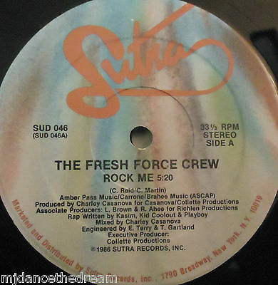 "FRESH FORCE CREW - Rock Me ~ 12"" Single US PRESS"