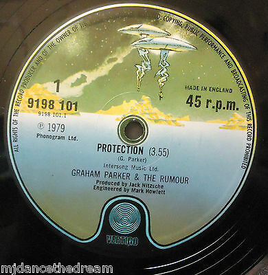 "GRAHAM PARKER & THE RUMOUR ~ Protection ~ 12"" Single"