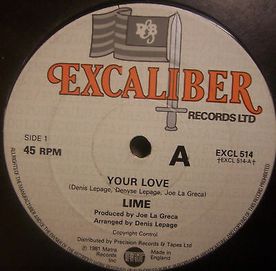 """LIME - Your Love ~ 12"""" Single"""