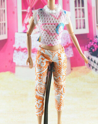 lovely New Handmade Party Clothes Fashion Dress for Noble Barbie Doll   **W37