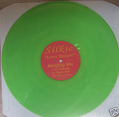"SILKIE Lover Tonight Almighty Mix 12"" PROMO GREEN VINYL"