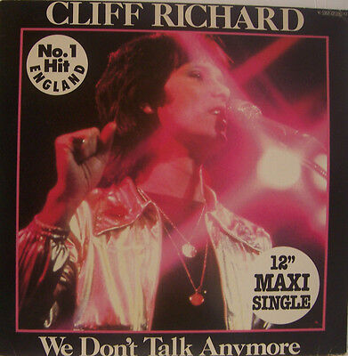 "CLIFF RICHARD We Dont Talk Anymore 12"" MAXI PS GERMAN"