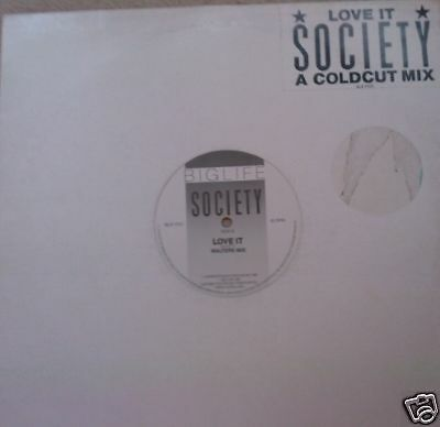 "SOCIETY ~ Love It  ~ 12"" Single"