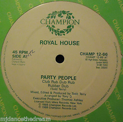 """ROYAL HOUSE ~ Party People ~ 12"""" Single"""