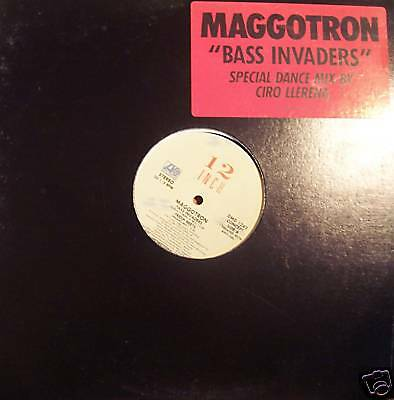 "MAGGOTRON - Bass Invaders - PROMO 12"" Single PS"